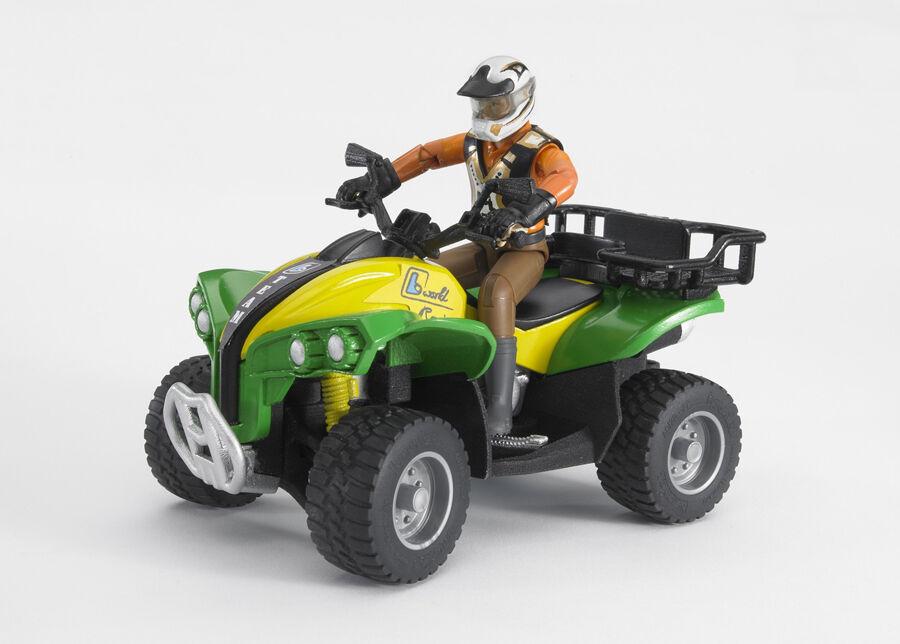 BRUDER ATV ja kuljettaja 1:16 BRUDER