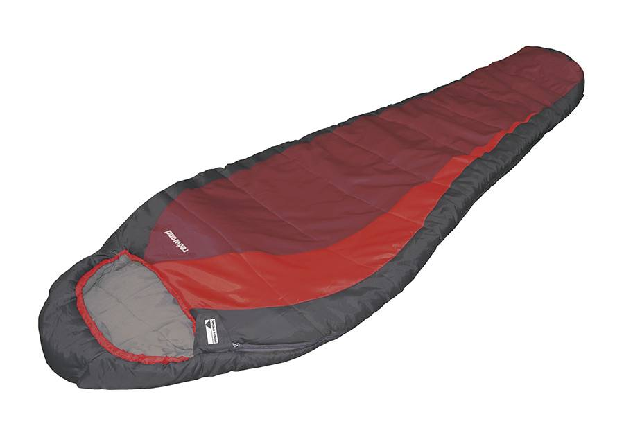 High Peak Makuupussi HIGH PEAK REDWOOD tummanharmaa/punainen