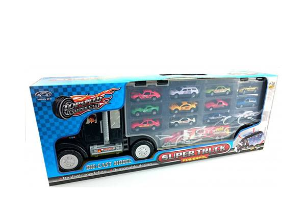 HKTEC Super traileri ja 13 pikkuautoa