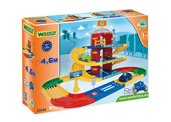 Wader 3-kerroksinen autotalli KID CARS 3D