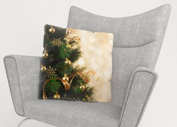Image of Wellmira Koristetyynyliina CHRISTMAS GOLD 45x45 cm