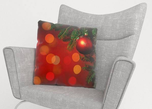Image of Wellmira Koristetyynyliina RED CHRISTMAS TOYS 50x50 cm