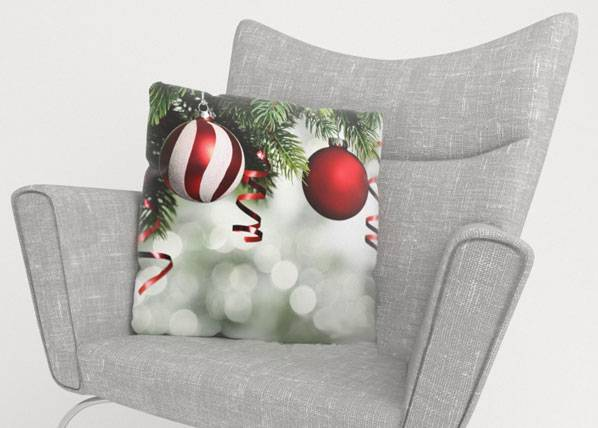 Image of Wellmira Koristetyynyliina RED CHRISTMAS TOYS 2 50x50 cm
