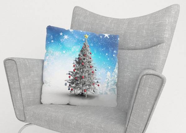 Image of Wellmira Koristetyynyliina WHITE CHRISTMAS TREE 50x50 cm
