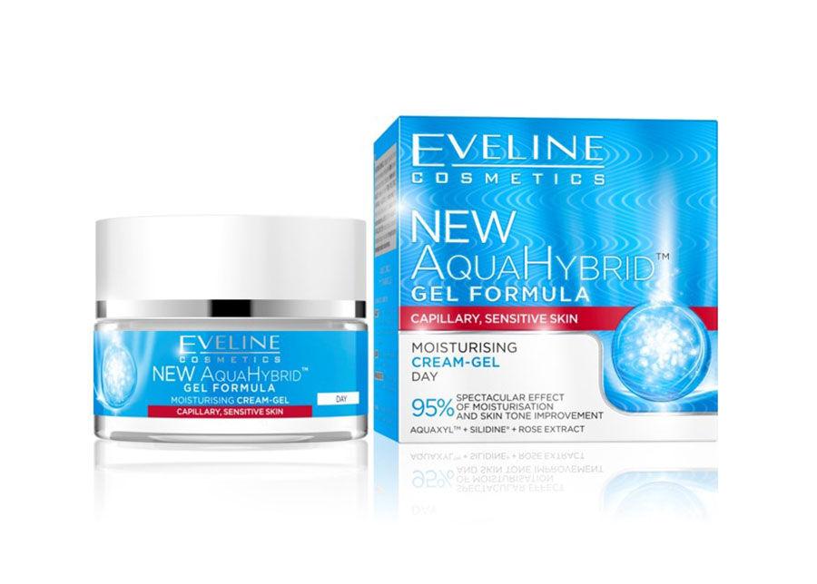 Eveline Cosmetics New Aqua Hybrid kosteuttava päivävoide-geeli Eveline Cosmetics 50ml