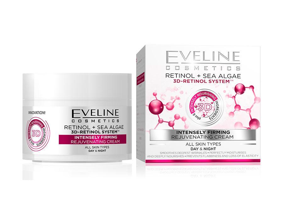 Eveline Cosmetics Nature Line kasvovoide 3D-retinolilla Eveline Cosmetics 50ml