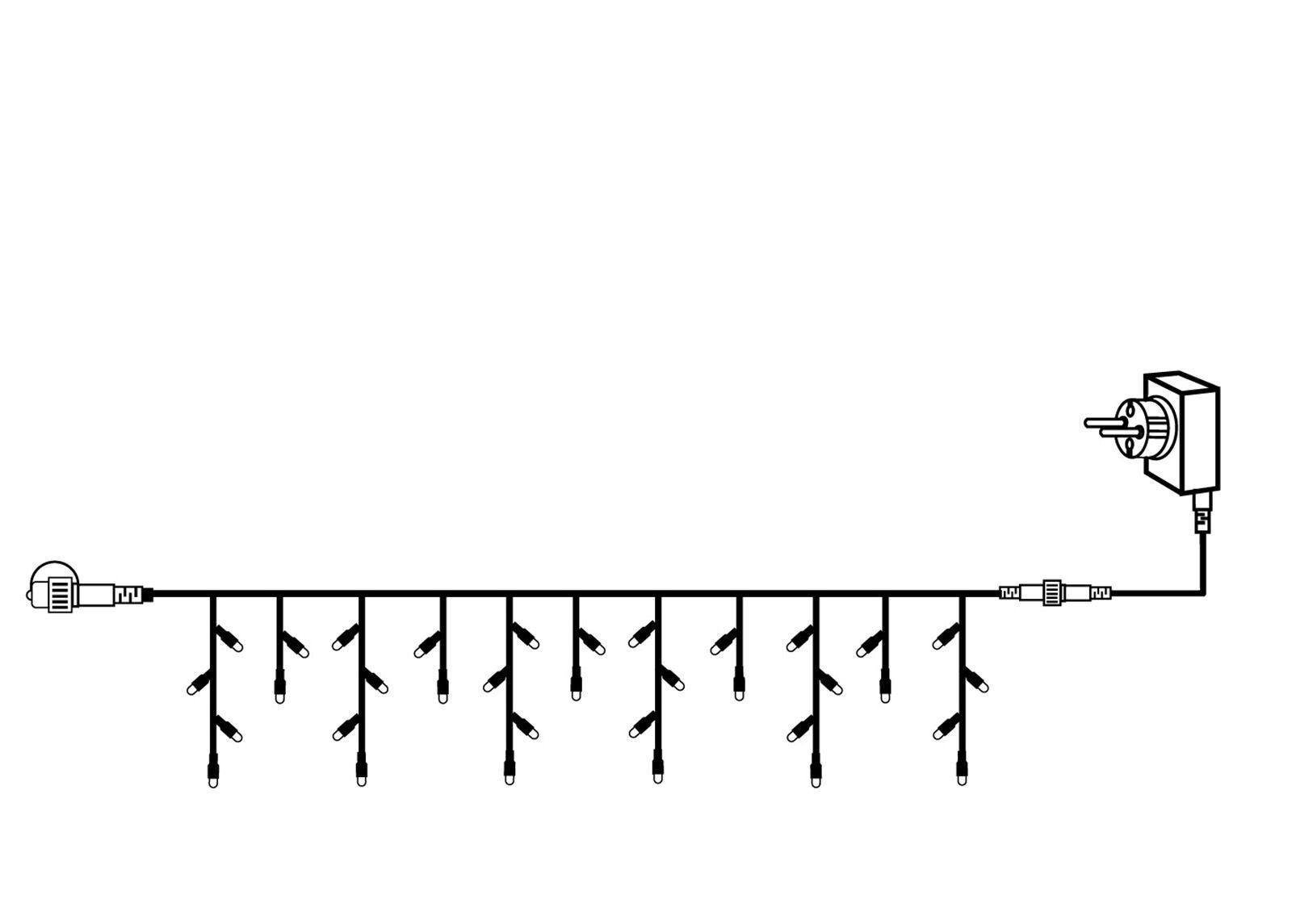 Star Trading Jatkettava valoketju START ICICLES 3x0,4 m