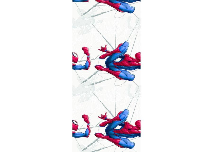 AG Design Fleece-tapetti SPIDER MAN JUMPING, GREY 53x1000 cm