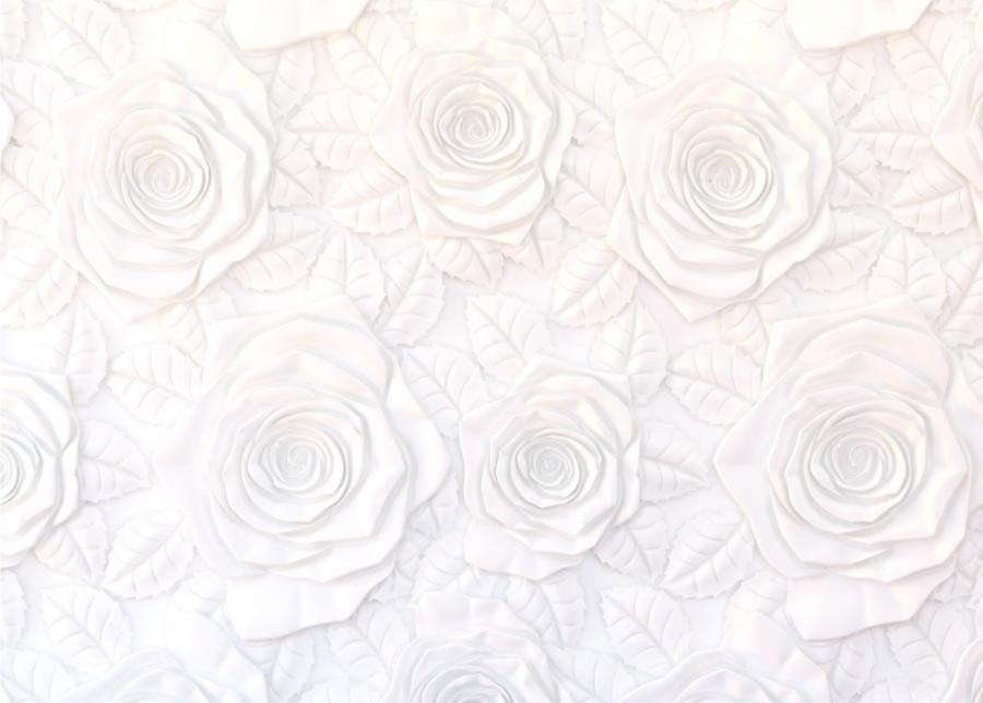 AG Design Fleece-kuvatapetti FLOWERS 3D, 360x270 cm