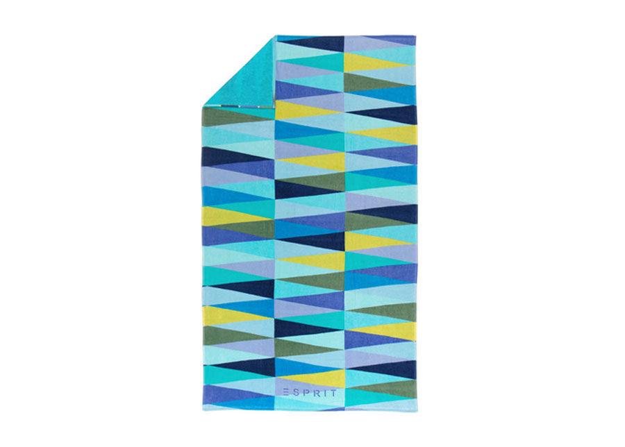 ESPRIT home Rantapyyhe ESPIRIT PYRAMID BLUE 100x180 cm