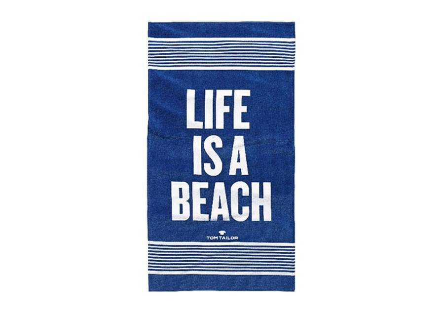 TOM TAILOR Rantapyyhe TOM TAILOR, LIFE IS A BEACH 85x160 cm