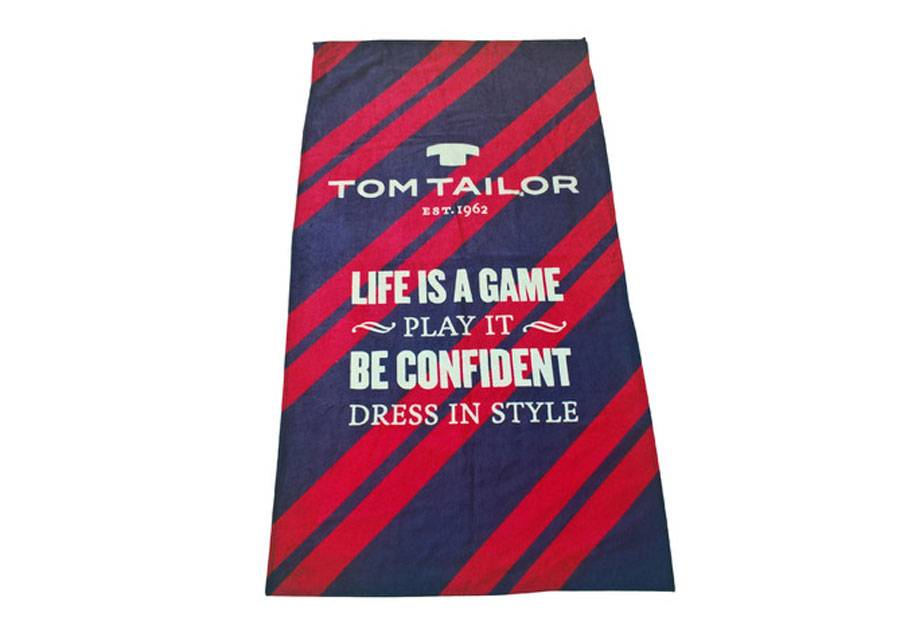 TOM TAILOR Rantapyyhe TOM TAILOR, LIFE IS A GAME 85x160 cm