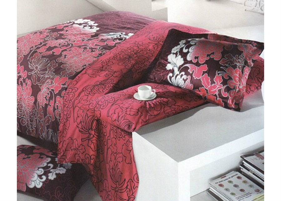 GOKAY Satiini pussilakanasetti SAFIR MURDUM 200x220 cm