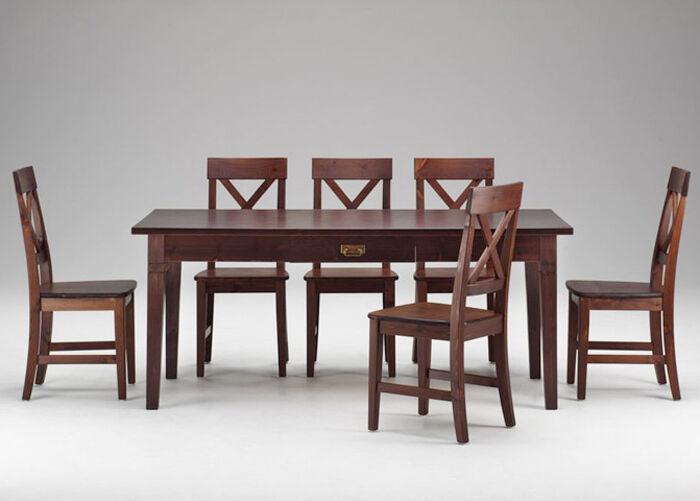 LASVA Ruokapöytä MONACO 185x85 cm