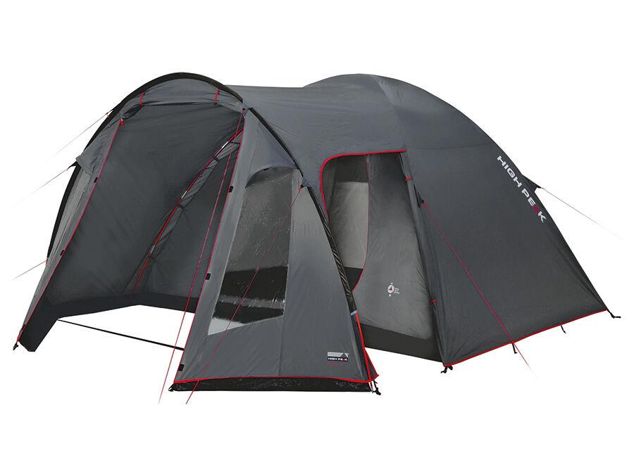 High Peak Teltta HIGH PEAK TESSIN 5 tummanharmaa/punainen