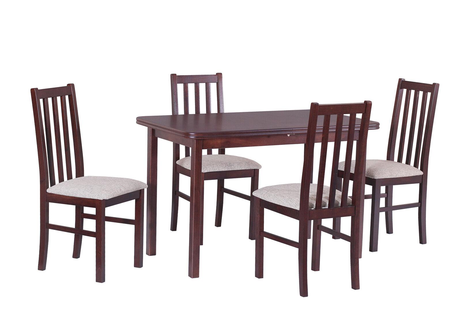 Dakar Dolmar Jatkettava ruokapöytä 160-200x90 cm+ 4 tuolia