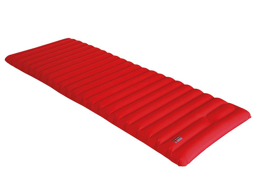 High Peak Ilmapatja integroidulla pumpulla High Peak Dallas 197x70x10 cm, punainen
