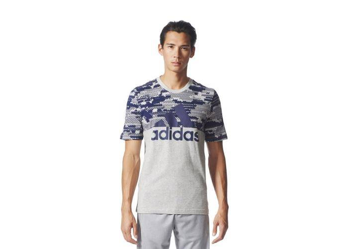 Image of Adidas Miesten vapaa-ajanpaita adidas Sports Essentials Linear Camo Tee M BQ9597