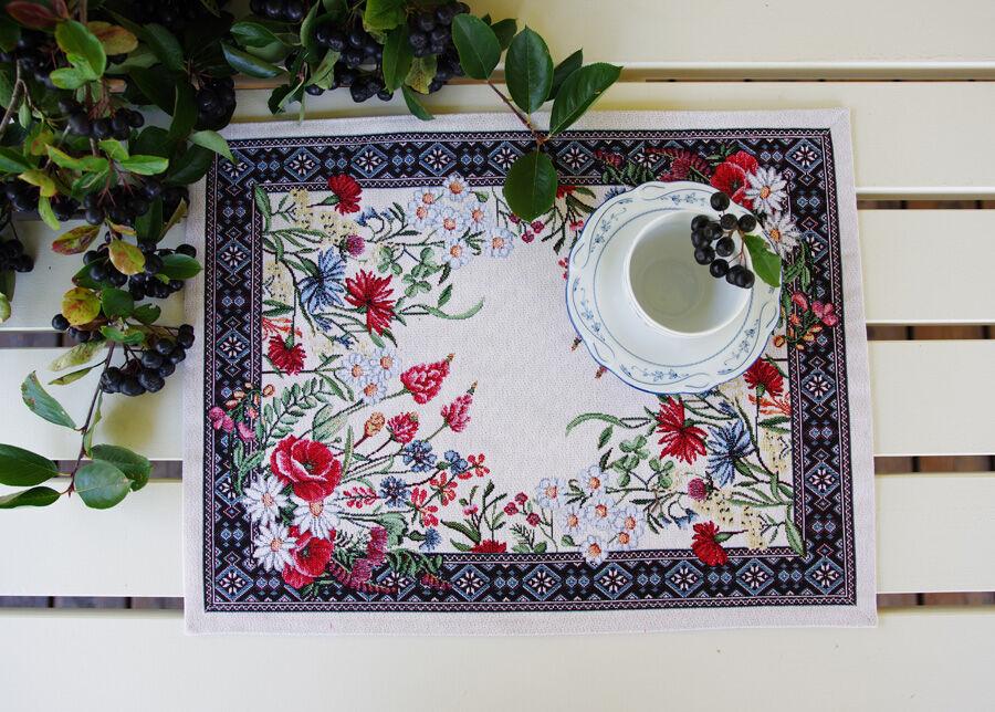 SikSak Gobeliinikankainen pöytäliina/pöytätabletti Chamomille 35x48 cm