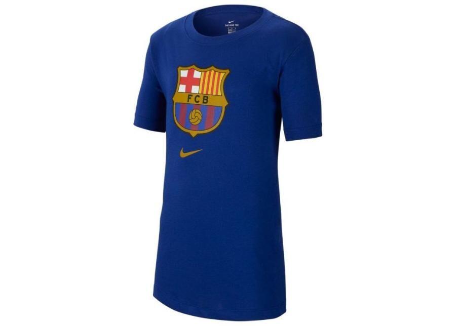 Image of Nike Miesten jalkapallopaita Nike FC Barcelona M NK Tee Evergreen Crest M CD3115-455