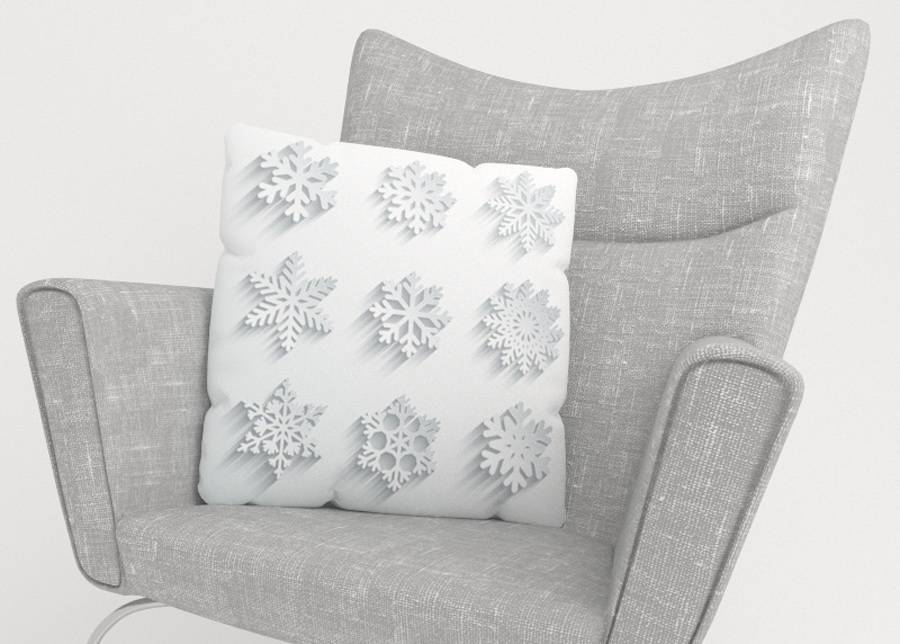 Image of Koristetyynyliina Snowflakes 45x45 cm
