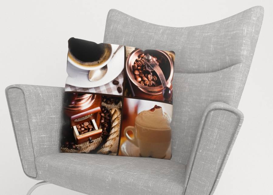 Image of Koristetyynyliina Coffee 5 45x45 cm