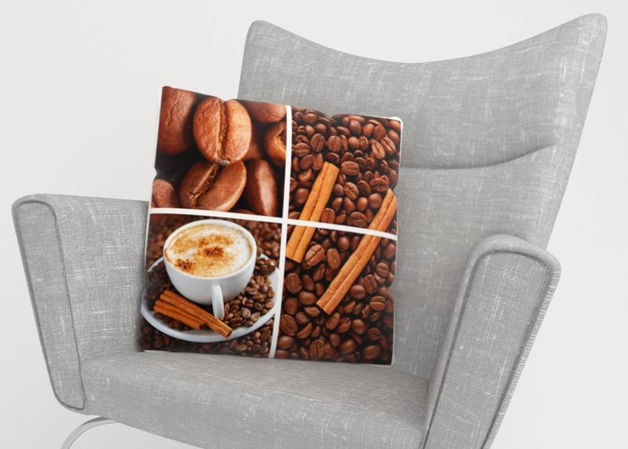Image of Koristetyynyliina Coffee 3 45x45 cm
