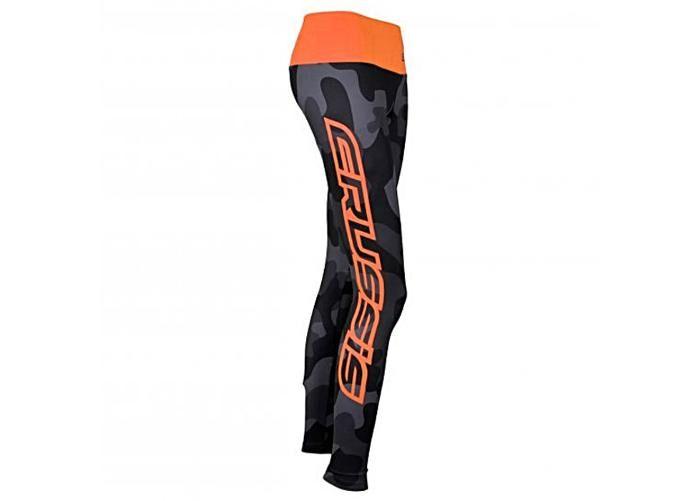 Crussis Naisten pitkät pyöräilyhousut CRUSSIS harmaa-oranssi