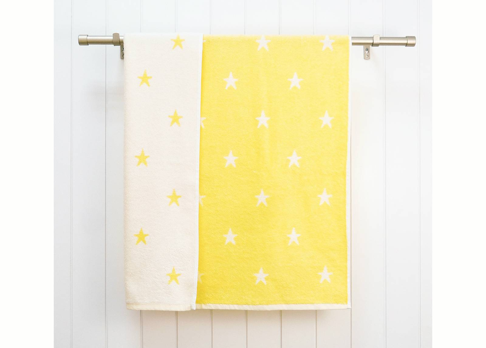 ARDENZA BABY Lasten froteepyyhe Stars 70x120 cm, keltainen