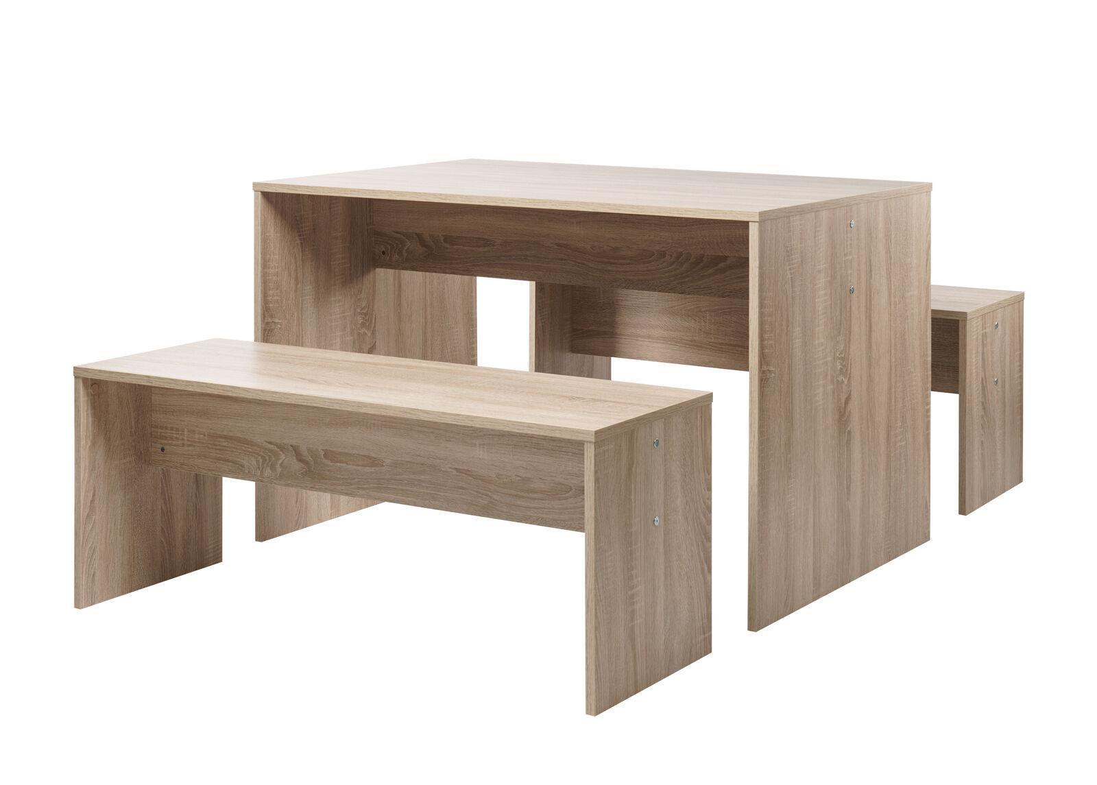 FINORI Ruokapöytä Berlin 118x78 cm + 2 penkkiä