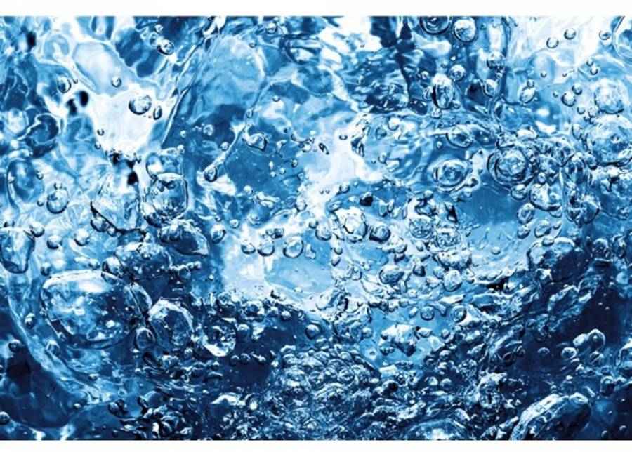 Image of Fleece-kuvatapetti Sparkling water 225x250 cm