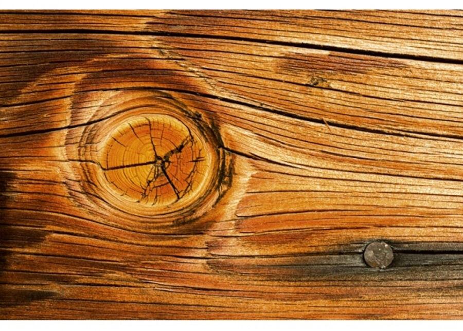 Image of Fleece-kuvatapetti Wood knot 150x250 cm