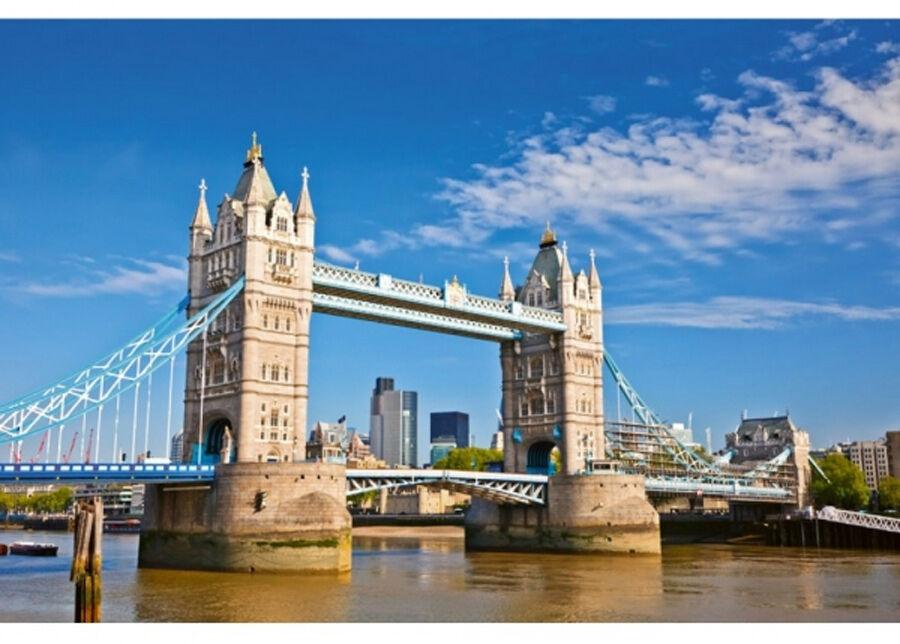 Image of Fleece-kuvatapetti Tower bridge 375x250 cm