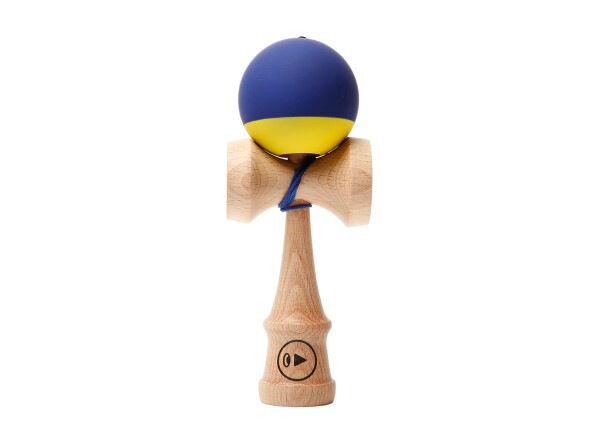 Kendama Europe Kendama Play Grip II Blue Banana 18,5 cm