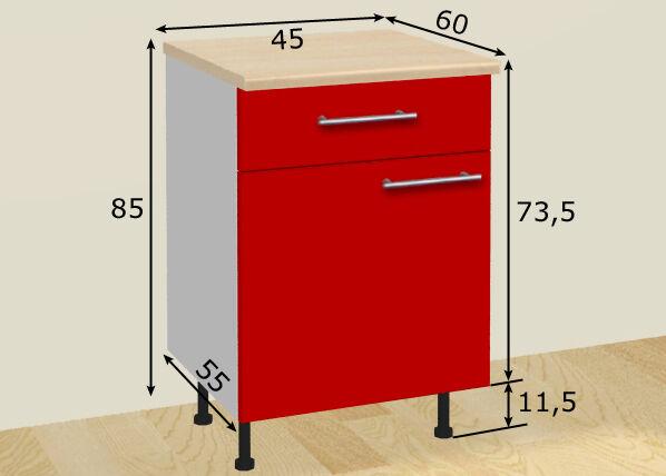 Image of Baltest Mööbel Baltest alakaappi ovella ja laatikolla 45 cm