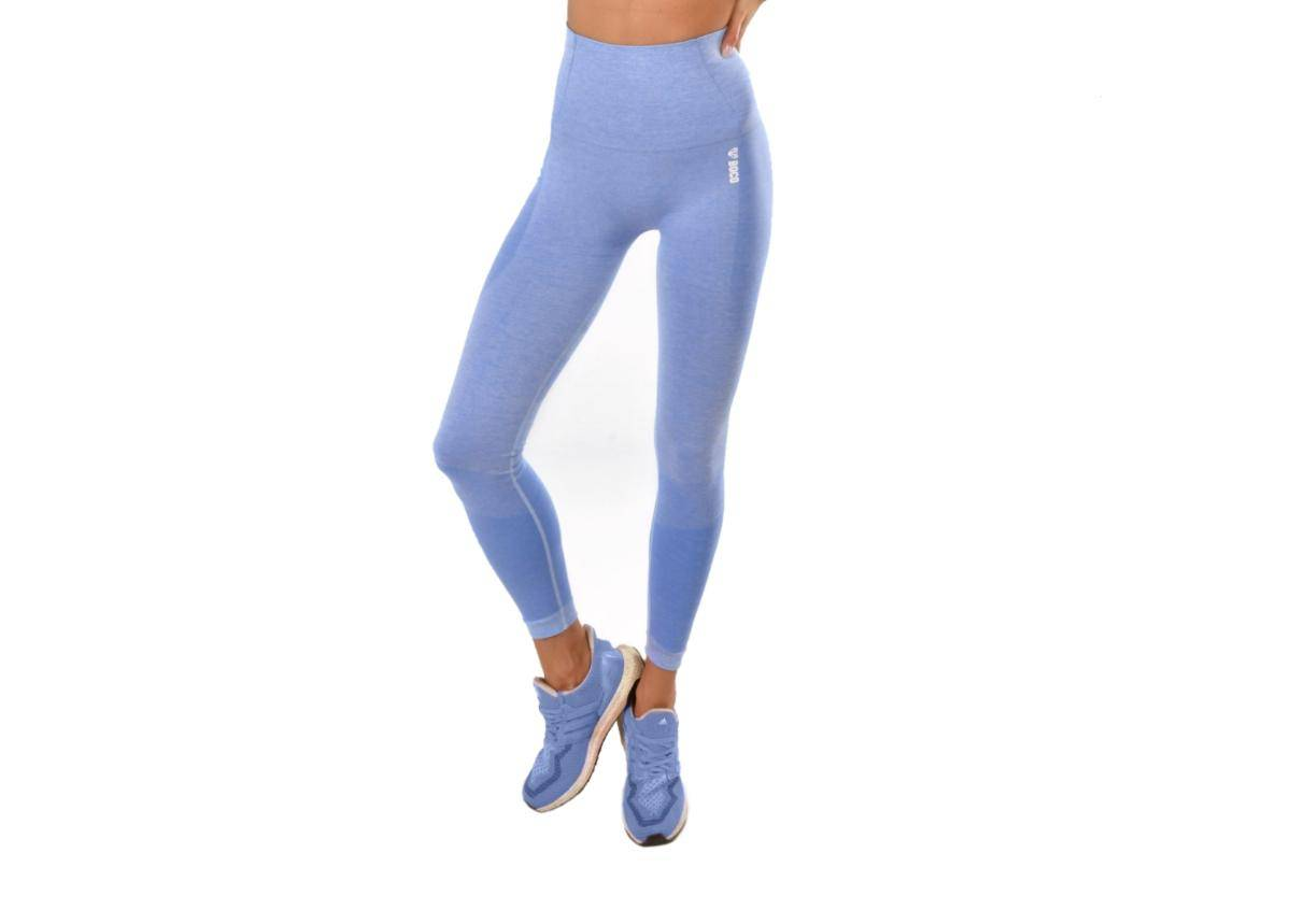 Image of Naisten pitkät treenileggingsit Boco Wear Blue Melange Push Up