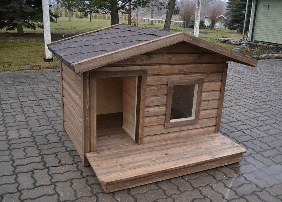 Koerakuut Lämpöeristetty koirankoppi terassilla BÖSE