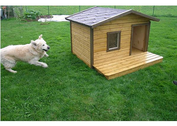 Koerakuut Koirankoppi lämpöeristyksellä+terassi ROCCO