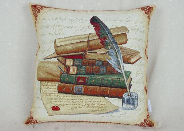 SikSak Gobeliinikankainen koristetyyny WRITER 45x45 cm