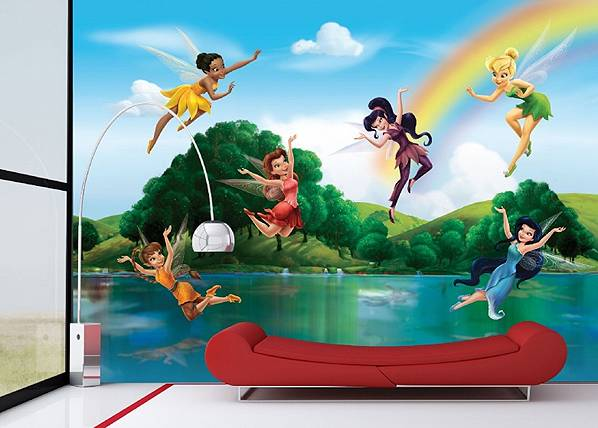 AG Design Kuvatapetti DISNEY FAIRIES WITH RAINBOW 360x254 cm