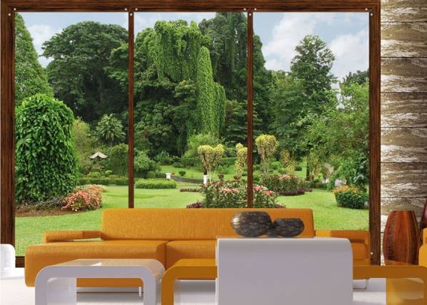 AG Design Kuvatapetti WINDOWS TO THE GARDEN 360x254 cm