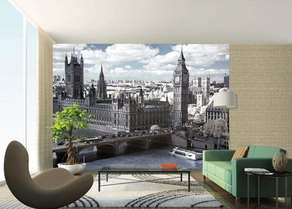 AG Design Fleece kuvatapetti LONDON PARLIAMENT 360x270 cm