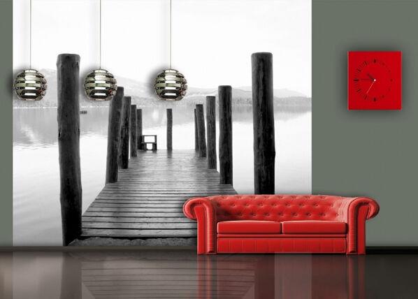 AG Design Fleece-kuvatapetti PIER 360x270 cm