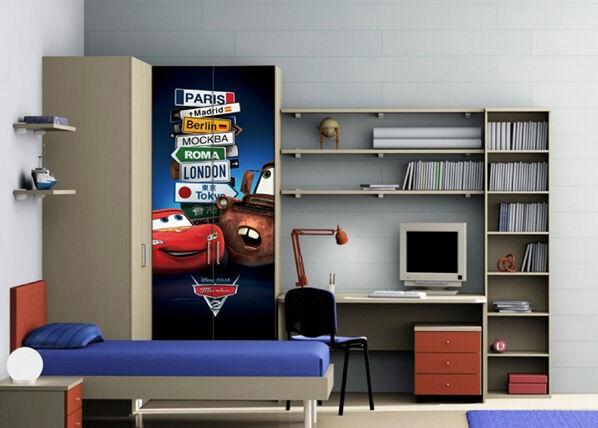 AG Design Fleece kuvatapetti DISNEY McQUEEN AND MATER 90x202 cm