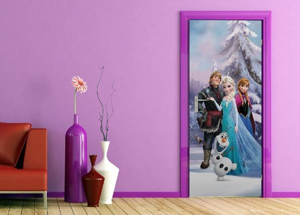 AG Design Fleece kuvatapetti DISNEY ICE KINGDOM 90x202 cm