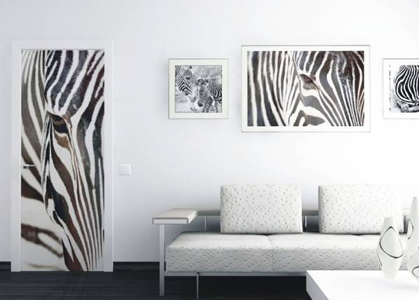 AG Design Fleece kuvatapetti ZEBRA 90x202 cm