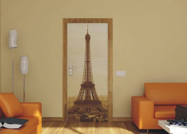 AG Design Fleece kuvatapetti PARIS EIFFEL TOWER 90x202 cm