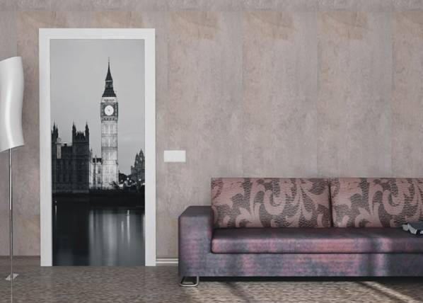 AG Design Fleece kuvatapetti LONDON BIG BEN 90x202 cm