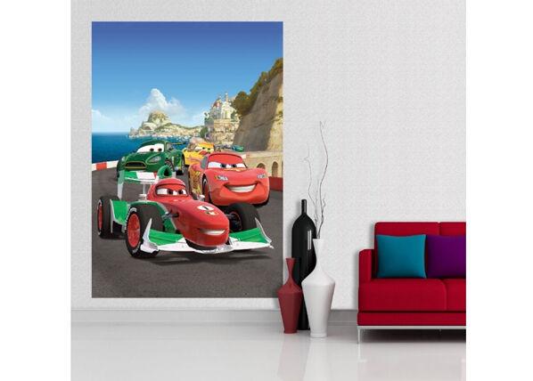 AG Design Fleece kuvatapetti DISNEY CARS 2 RACE 180x202 cm