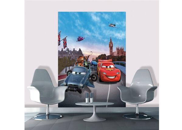 AG Design Fleece kuvatapetti DISNEY CARS IN LONDON 180x202 cm